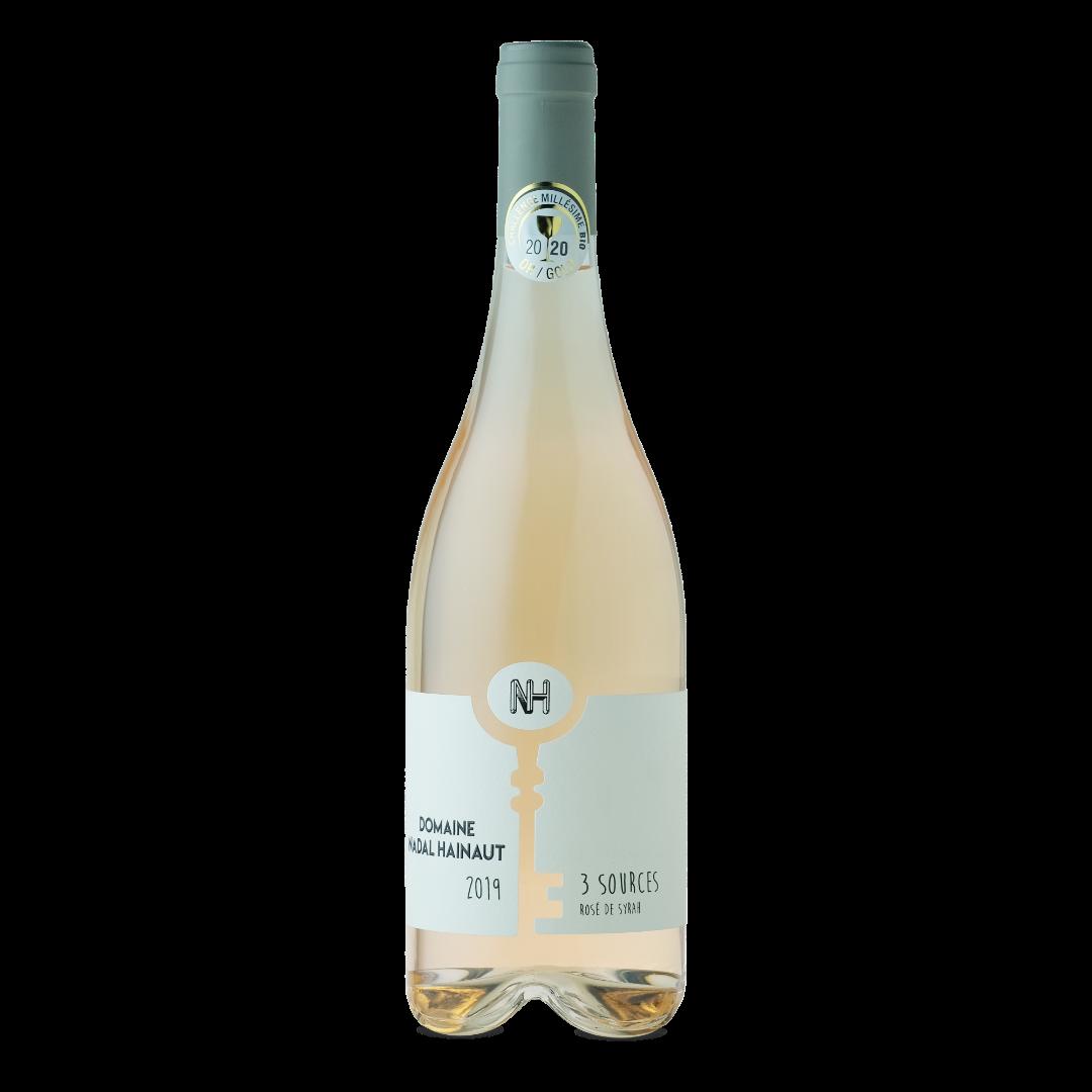 Vin rosé de syrah 3 Sources Bio domaine Nadal Hainaut