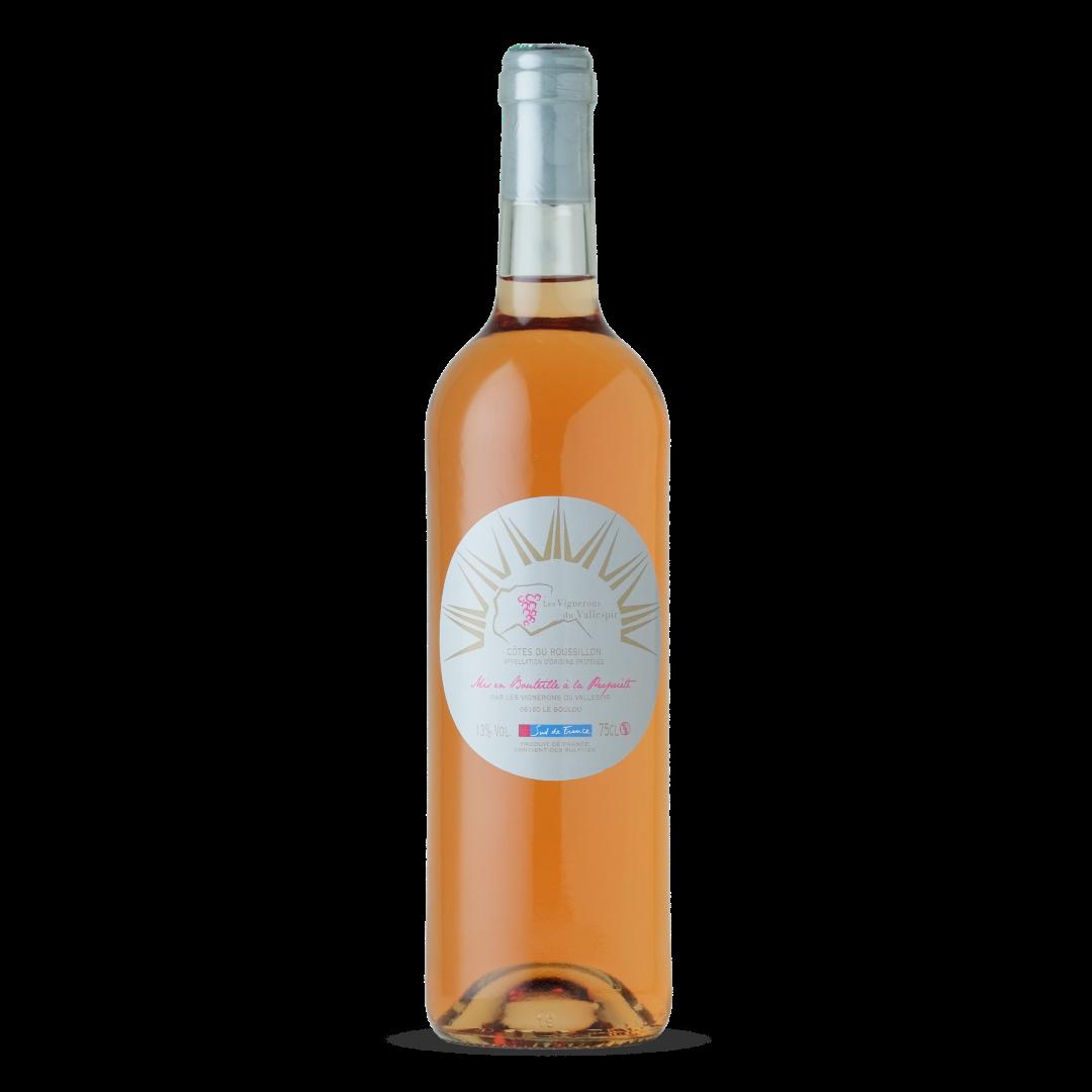 vin rosé cotes du roussillon AOP les vignerons du vallespir