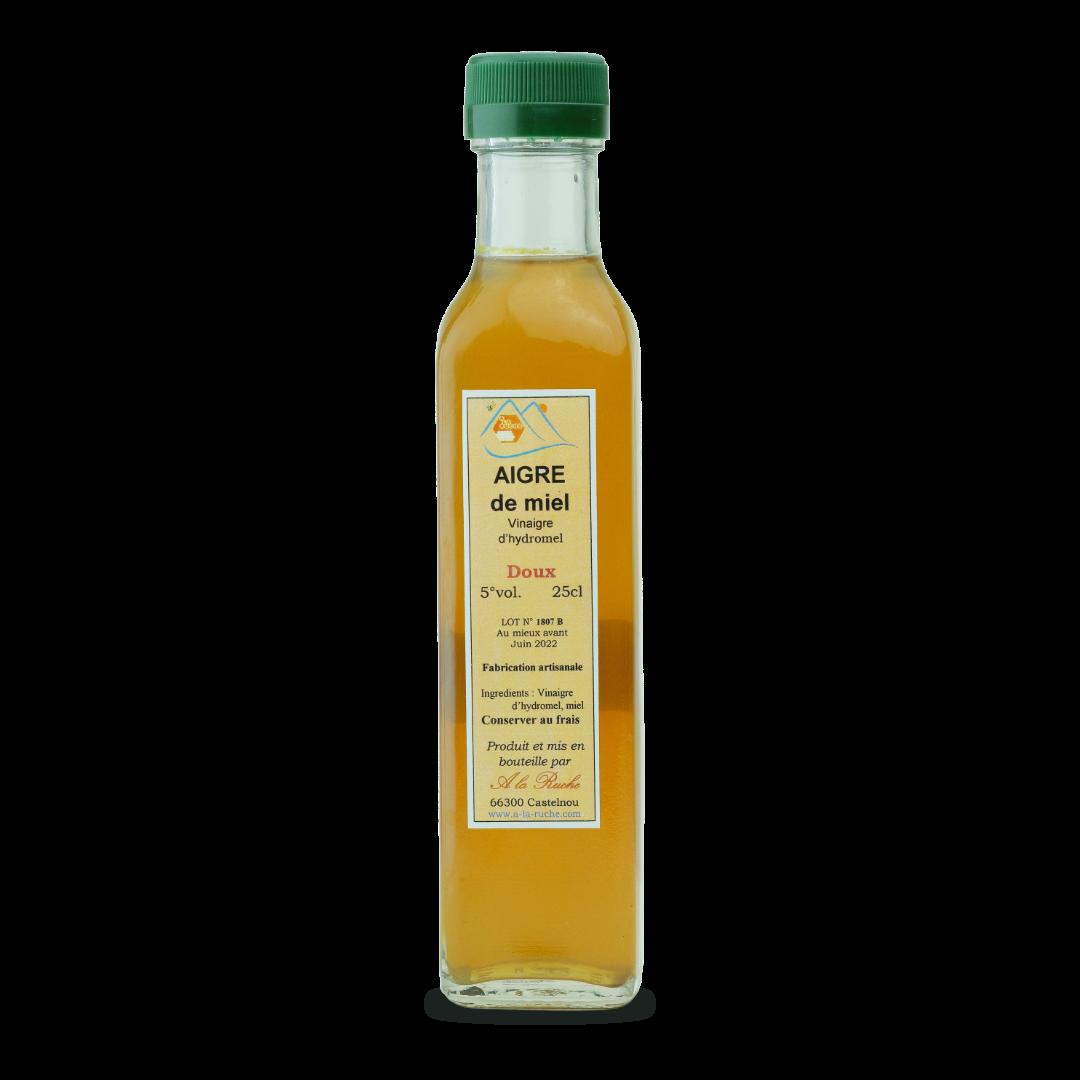 aigre de miel vinaigre d'hydromel doux fabrication artisanale a la ruche