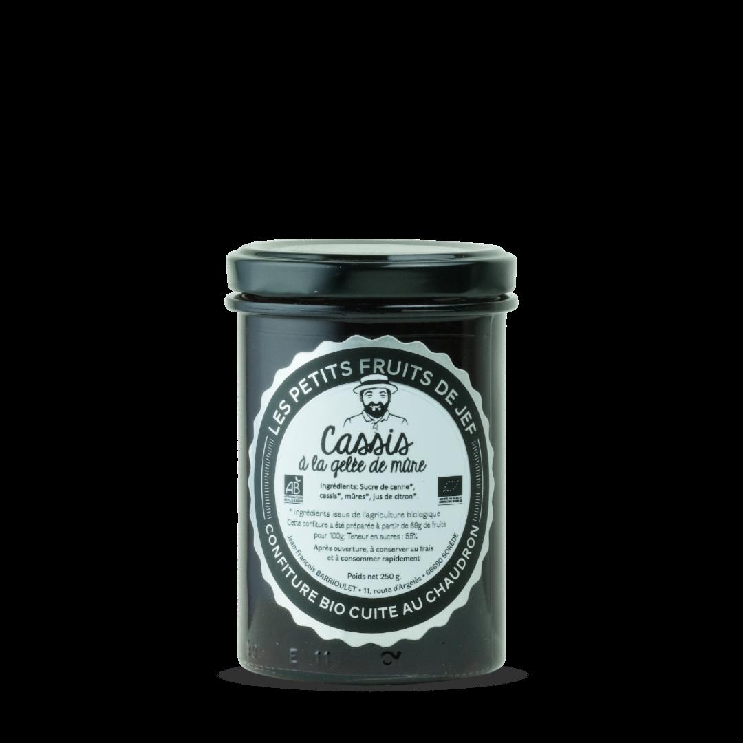 confiture de cassis a la gelee de mure les petits fruits de jef confiture bio cuite au chaudron