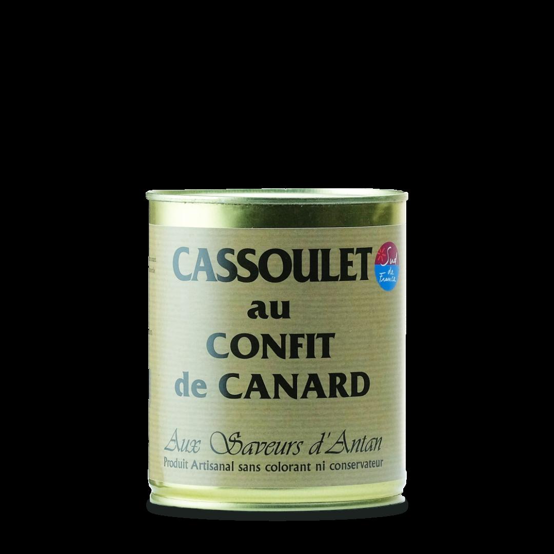 cassoulet au confit de canars en conserve au saveurs d'antan produit artisanal
