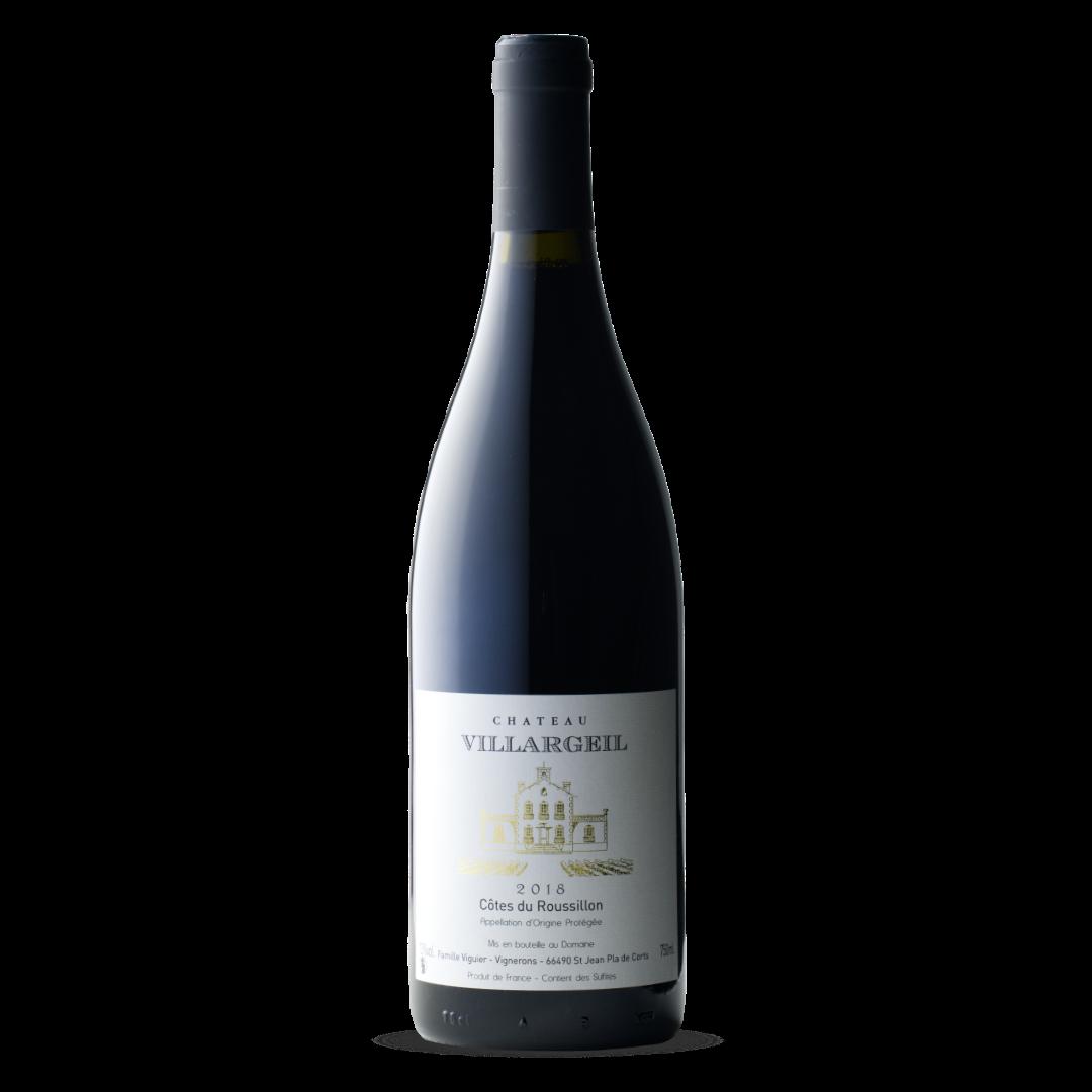vin rouge cotes du roussillon AOP chateau villargeil