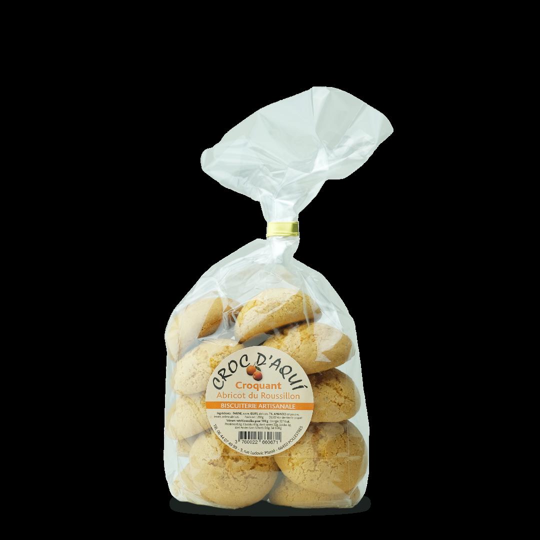 croc d'aqui croquant abricot du roussillon biscuiterie artisanale