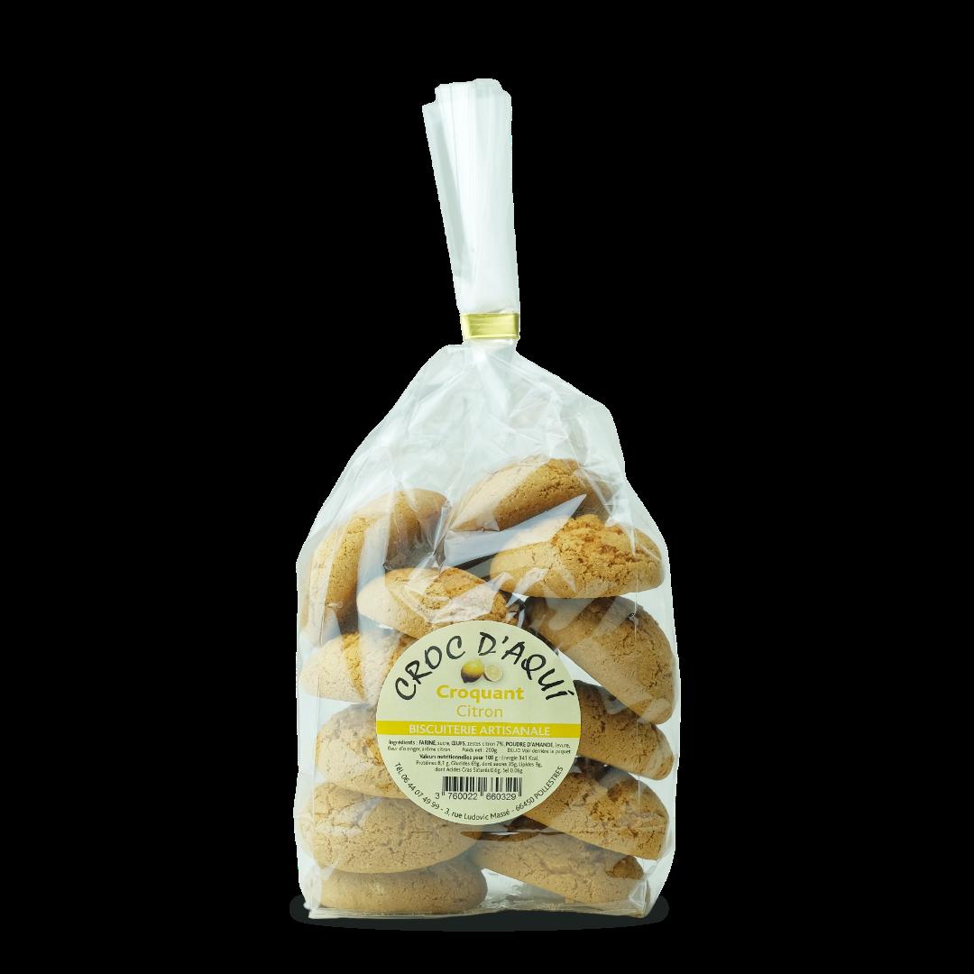 croc d'aqui croquant citron biscuiterie artisanale