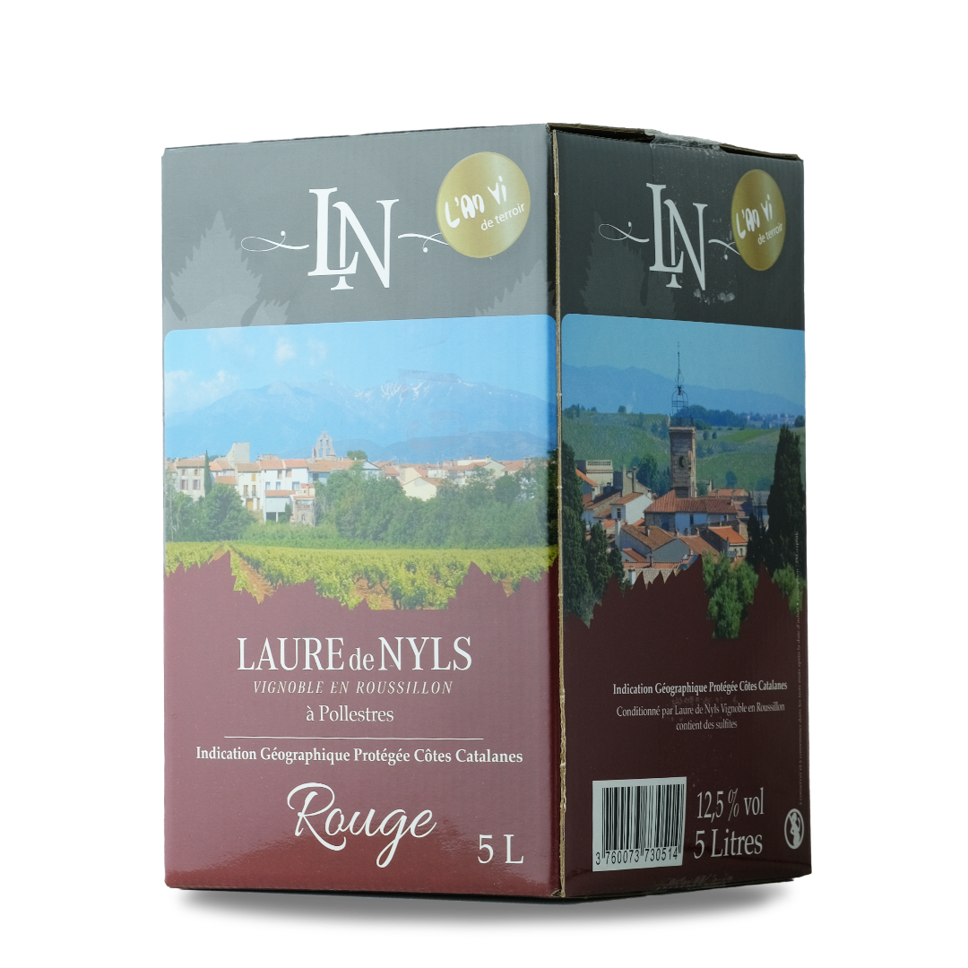 cubis vin rouge 5l IGP cotes catalanes laure de nyls