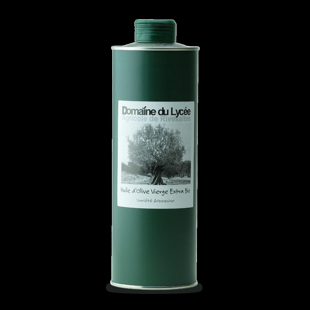domaine du lycée agricole de rivesaltes huile d'olive vierge extra bio variete arbequine