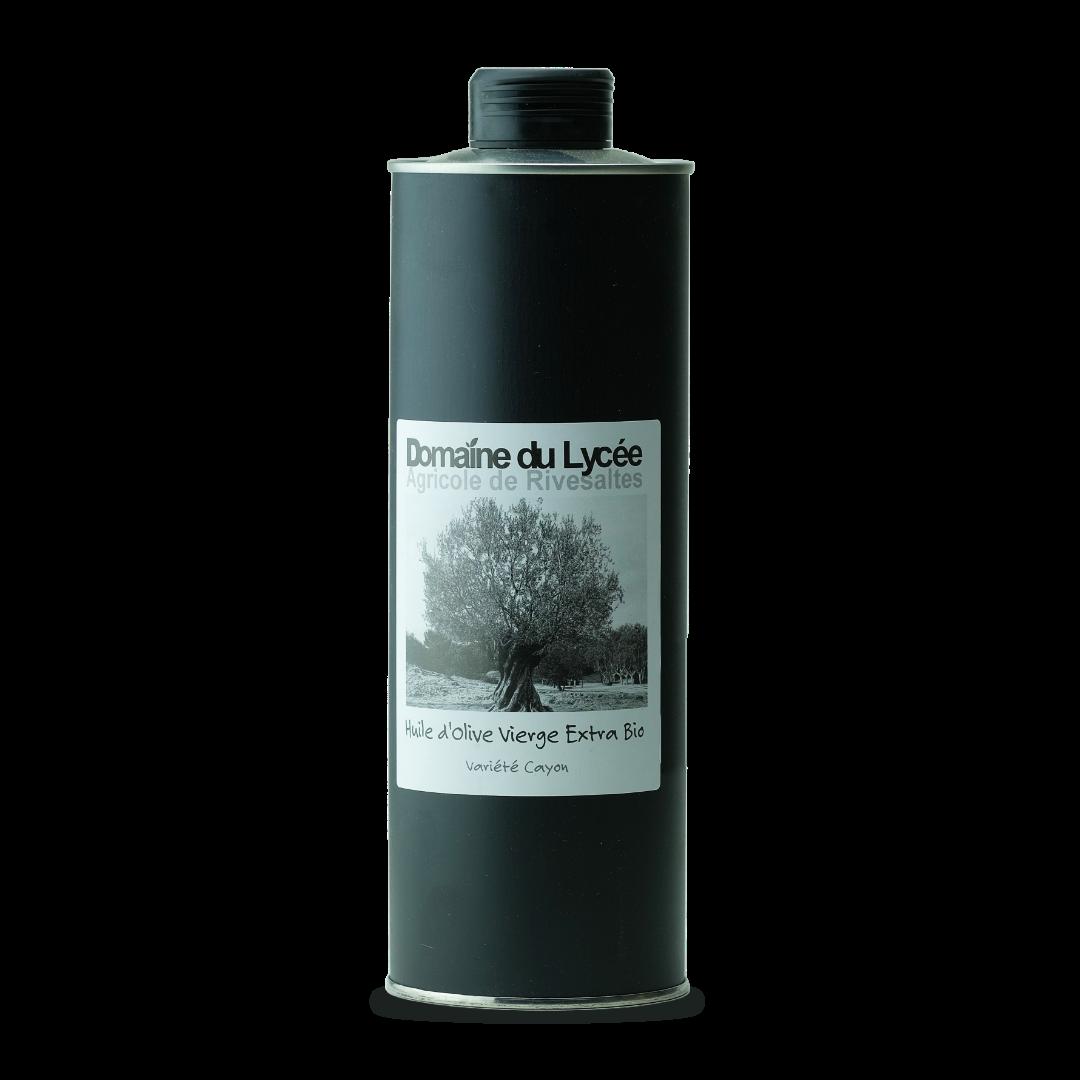 domaine du lycée agricole de rivesaltes huile d'olive vierge extra bio variete cayon