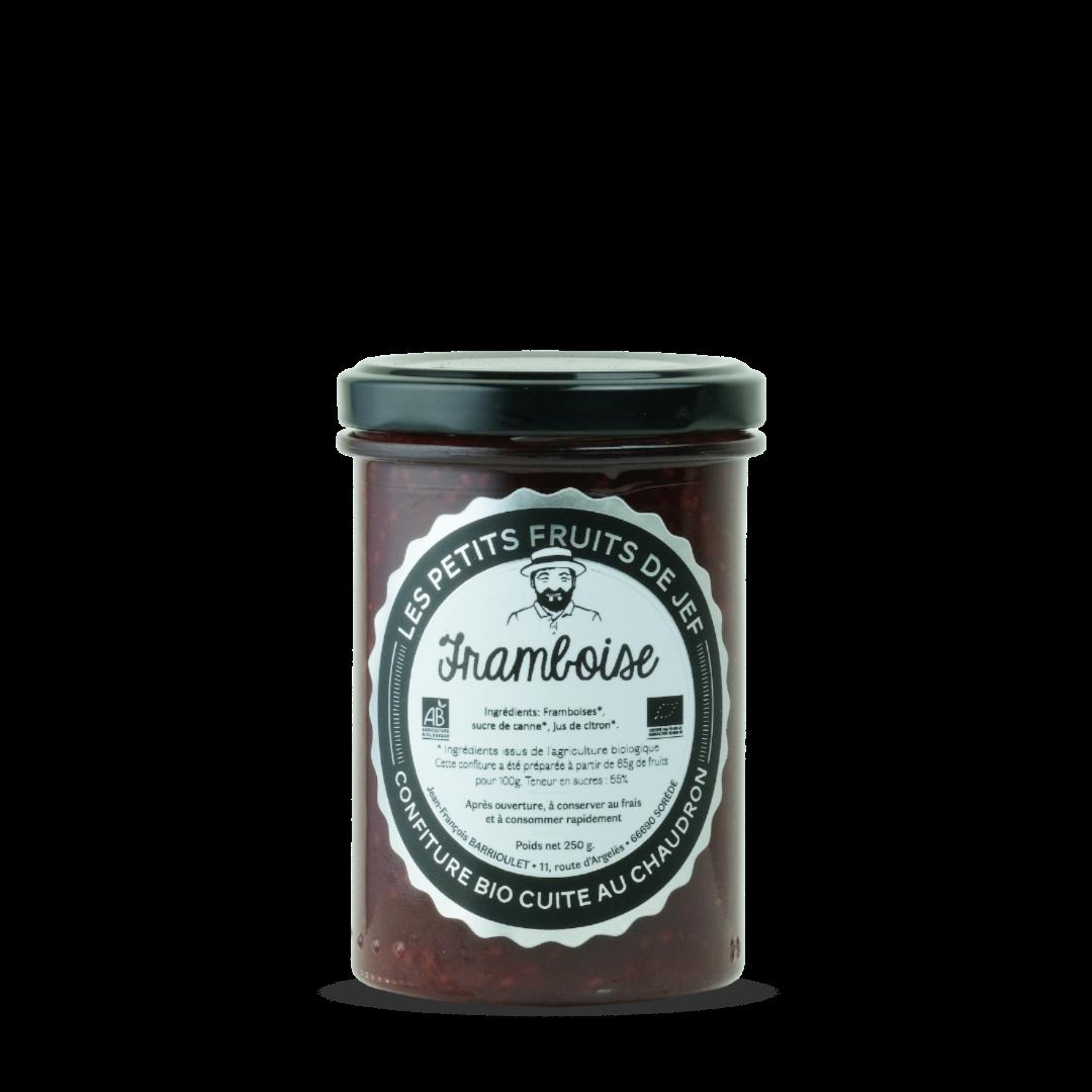confiture de framboise les petits fruits de jef confiture bio cuite au chaudron