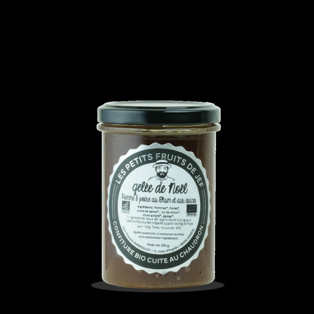 gelee de noel pomme et poire au rhum et aux épices les petits fruits de jef confiture bio cuite au chaudron