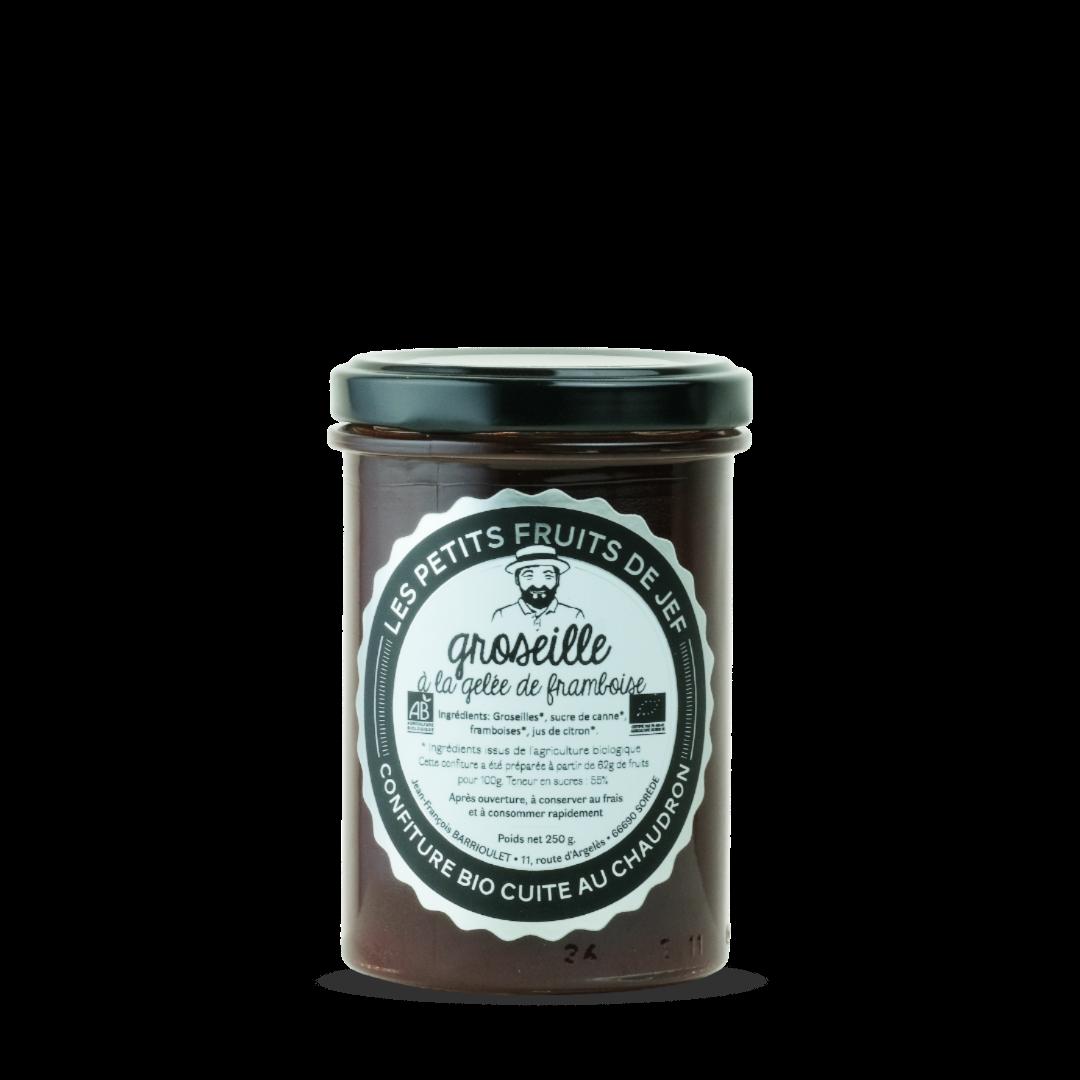 confiture de groseille a la gelee de framboise les petits fruits de jef confiture bio cuite au chaudron