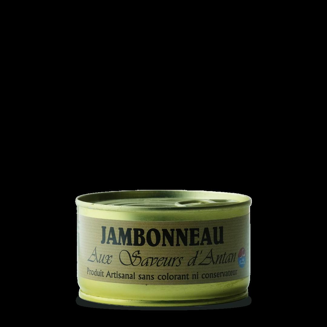 jambonneau en conserve aux saveurs d'antan, produit artisanal sans colorant ni conservateur