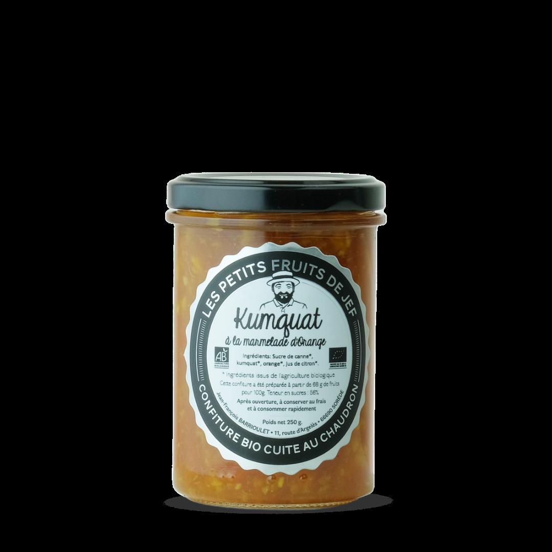 confiture de kumquat à la marmelade d'orange, les petits fruits de Jef, Confiture bio cuite au chaudron
