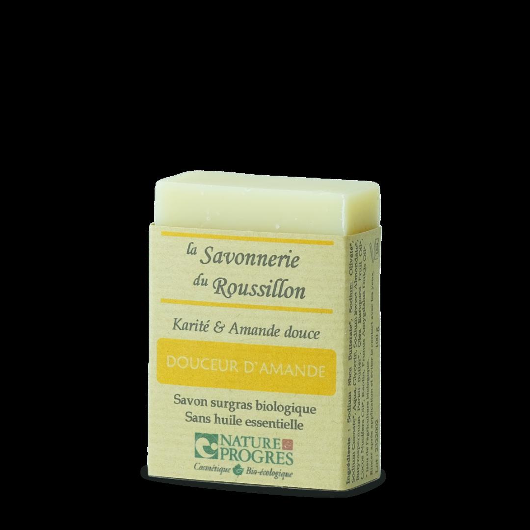 la savonnerie du roussillon douceur d'amande karité et amande douce savon surgras biologique sans huile essentielle