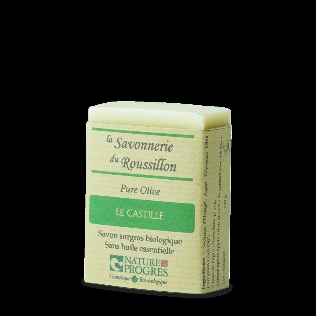 la savonnerie du roussillon le castille pure olive savon surgras biologique sans huile essentielle