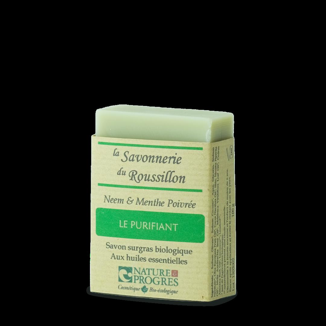 la savonnerie du roussillon le purifiant neem et menthe poivrée savons surgras biologique aux huiles essentielles