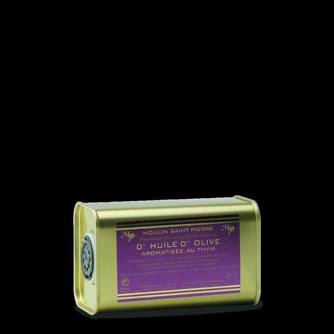 moulin saint pierre preparation alimentaire a base d'huile d'olive aromatisée au thym