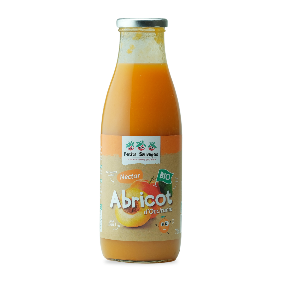petits sauvages nectar d'abricot d'occitanie bio 75cl