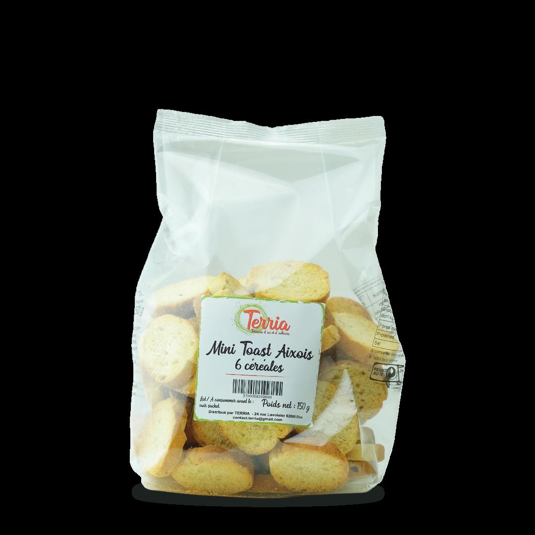 terria mini toast aixois 6 céréales 150 g
