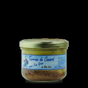 terrine de canard avec foie gras du mas cané