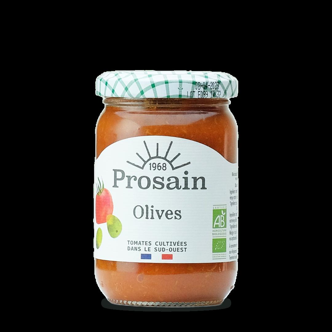sauce tomate aux olives bio prosain