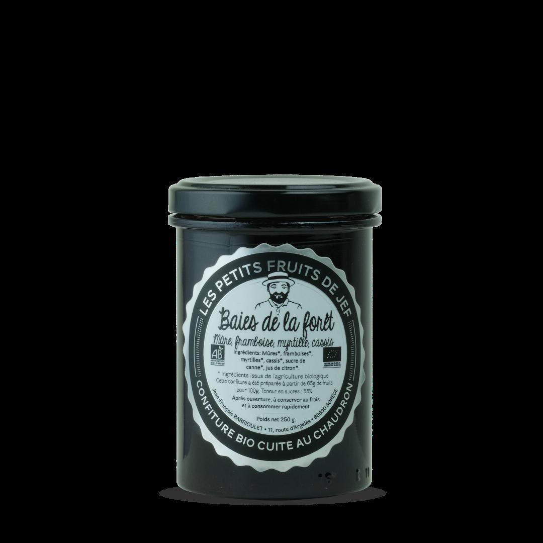 les petits fruits de jef confiture bio cuite au chaudron baiesd de la forpet mure framboise myrtille cassis