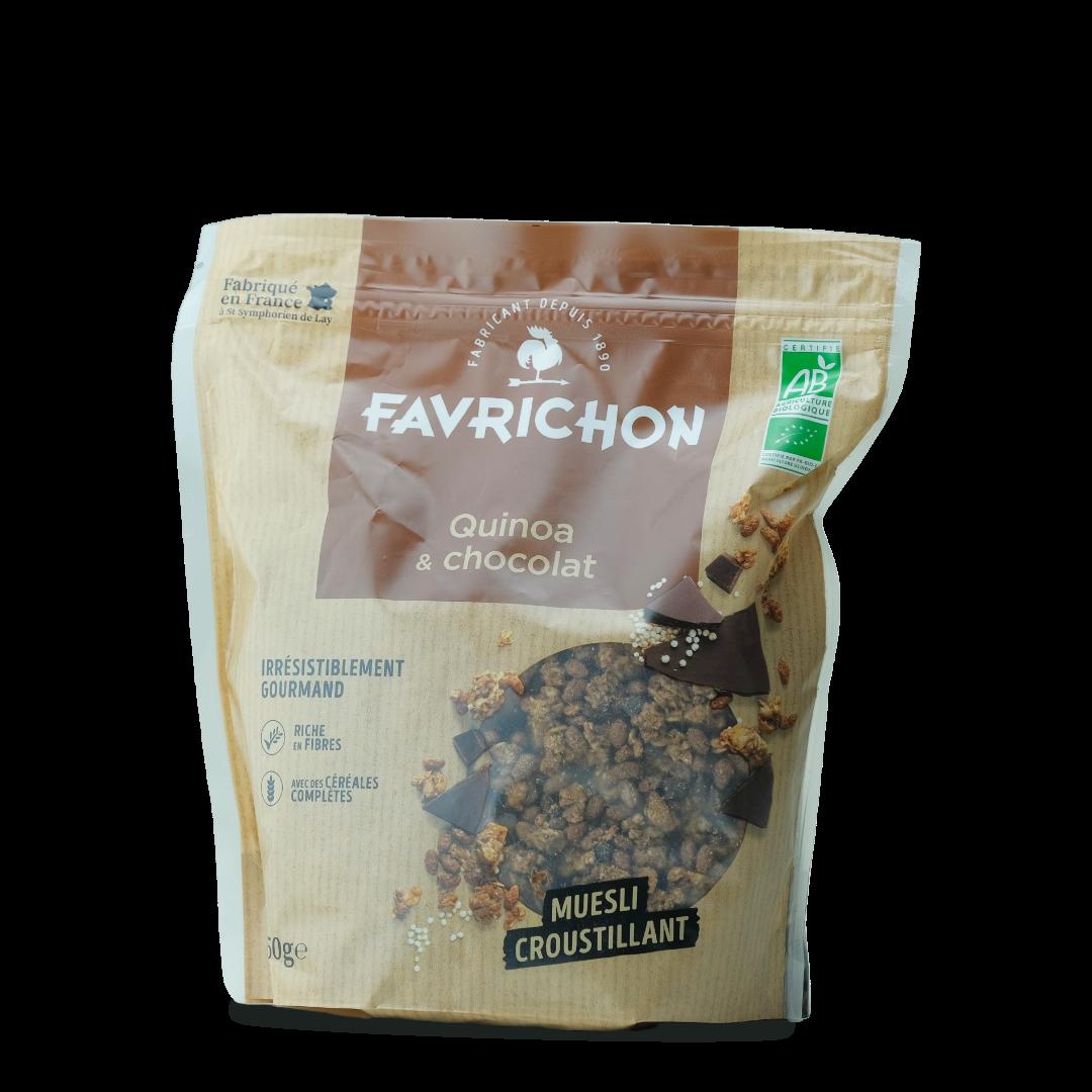 favrichon muesli croustillant quinoa et chocolat bio