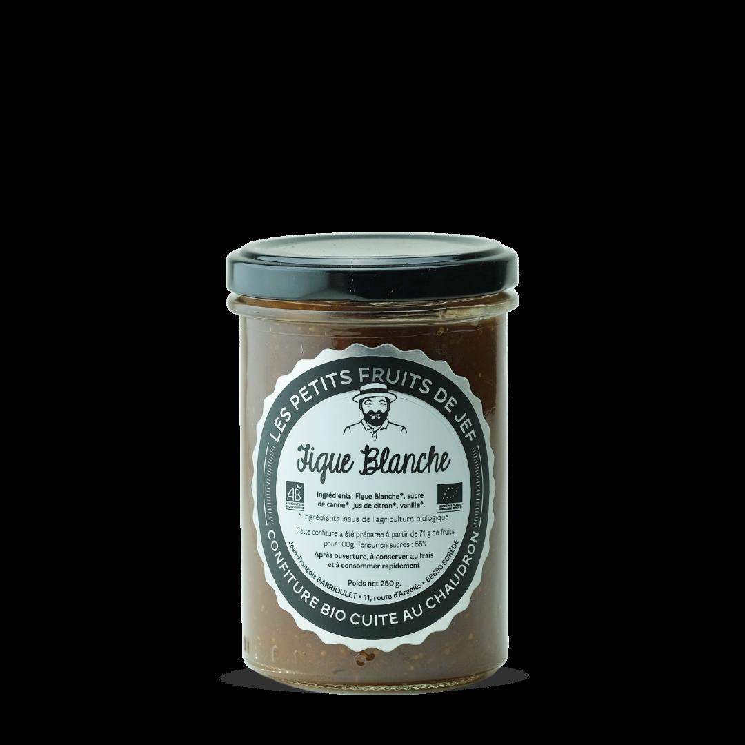 les petits fruits de jef confiture bio cuite au chaudron figue blanche bio