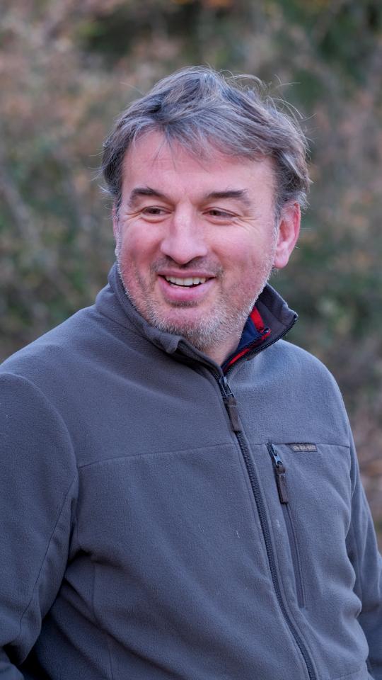 Manu Jacomet éleveur de porc dans les Pyrénées Orientales