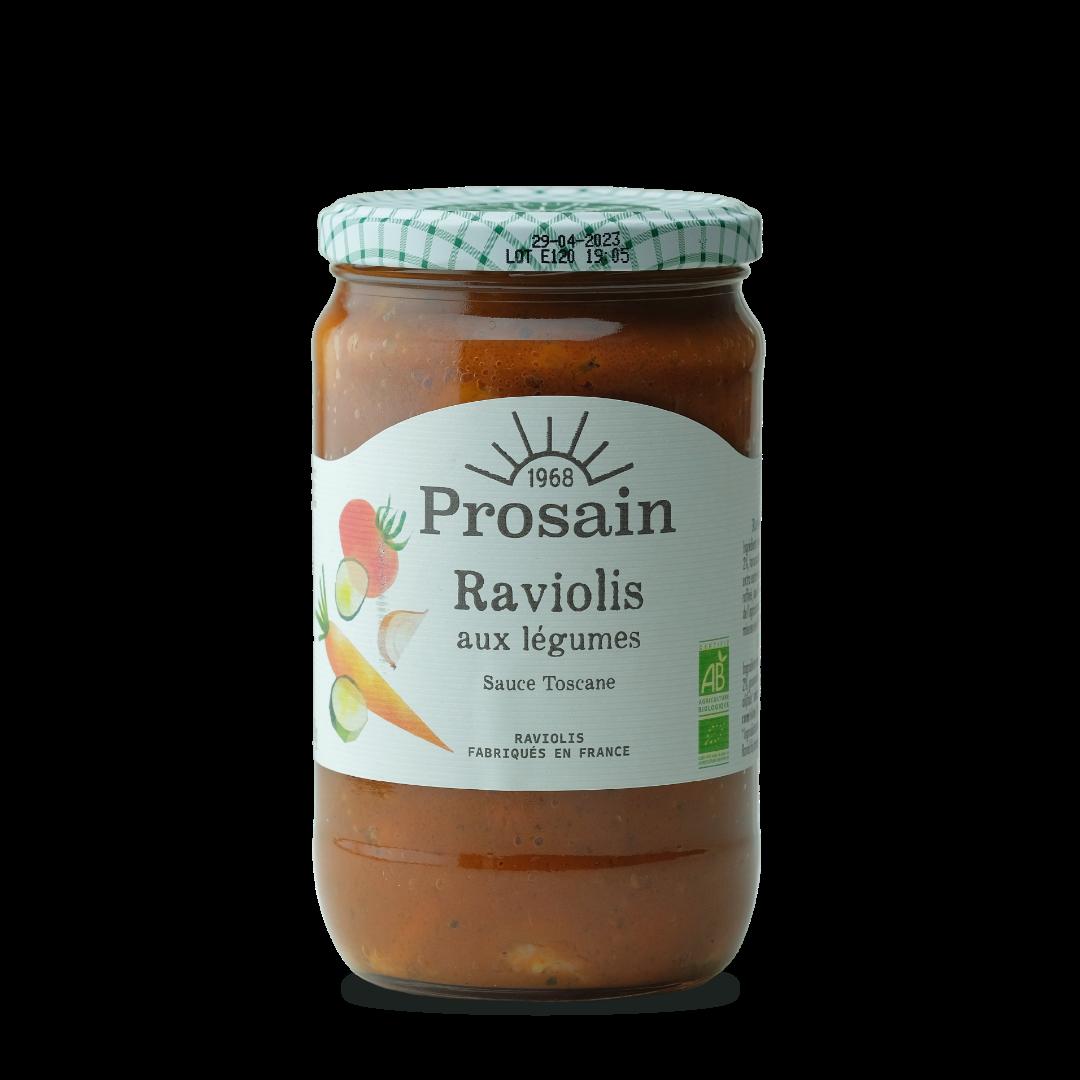 prosain raviolis aux légumes sauce toscane raviolis fabrique en france bio
