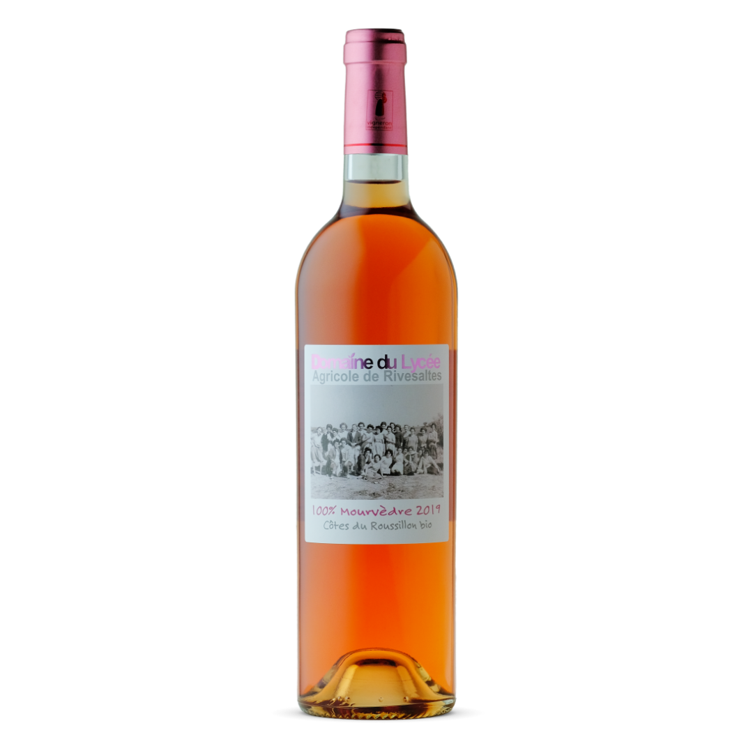 vin rosé mourvèdre 2019 domaine du lycée
