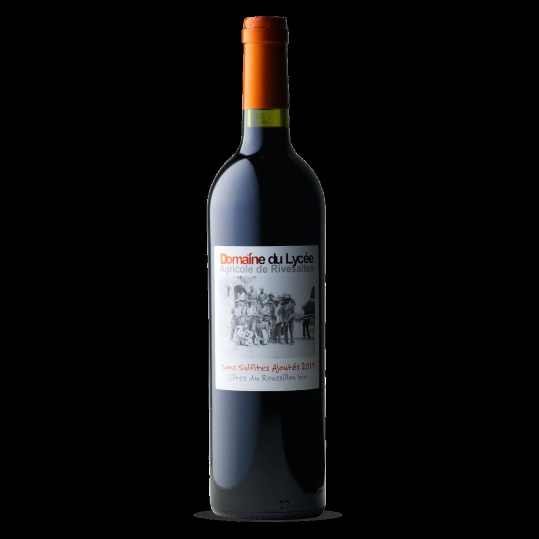 vin rouge sans sulfites 2019 domaine du lycée