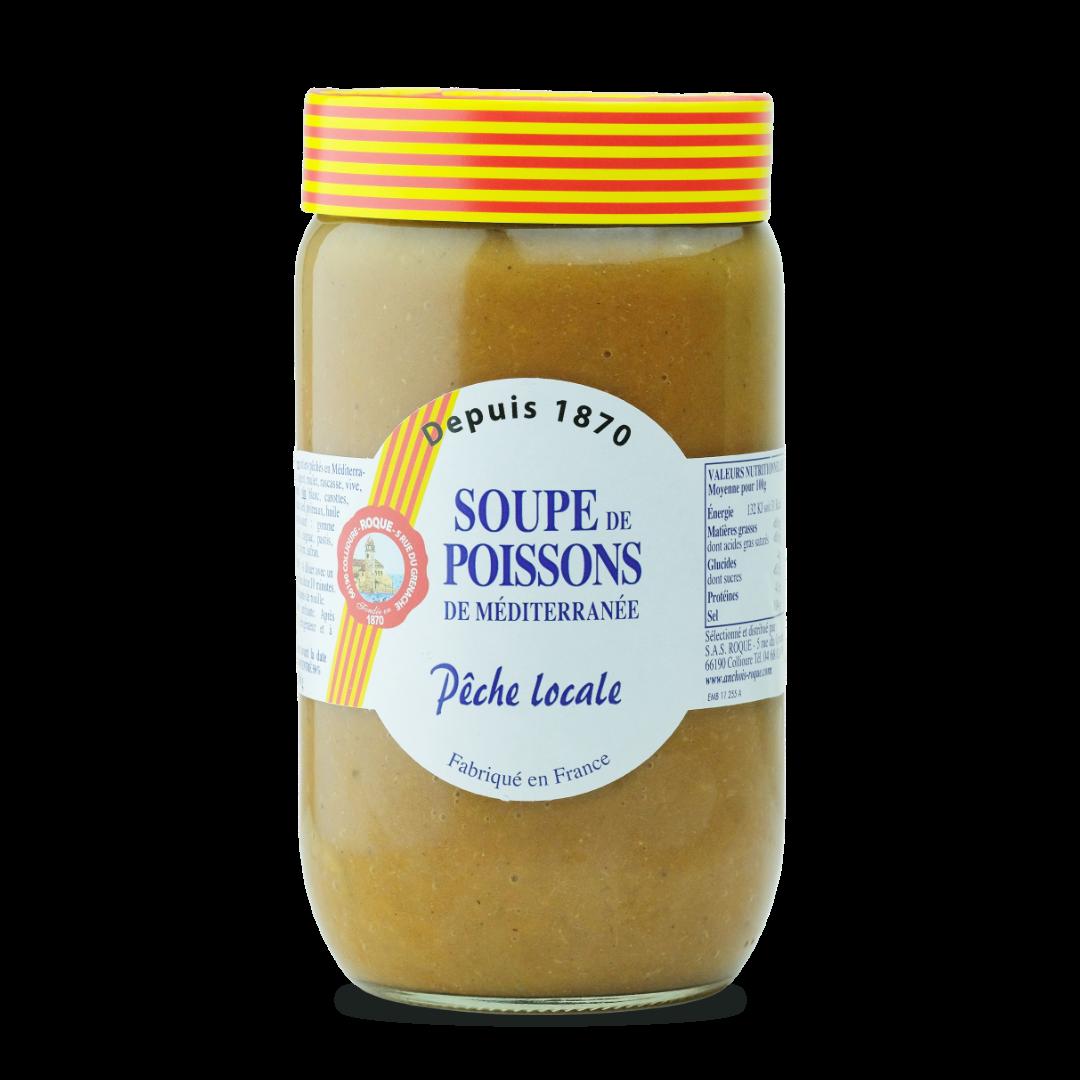 soupe de poissons de méditerranée peche locale fabriqué en france Roque grand format