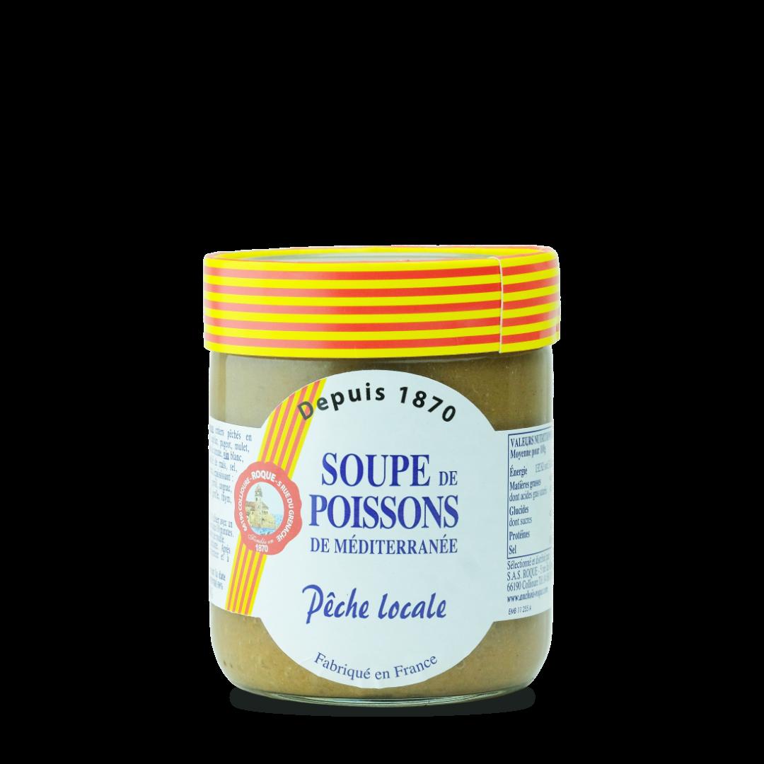 soupe de poissons de méditerranée peche locale fabriqué en france Roque