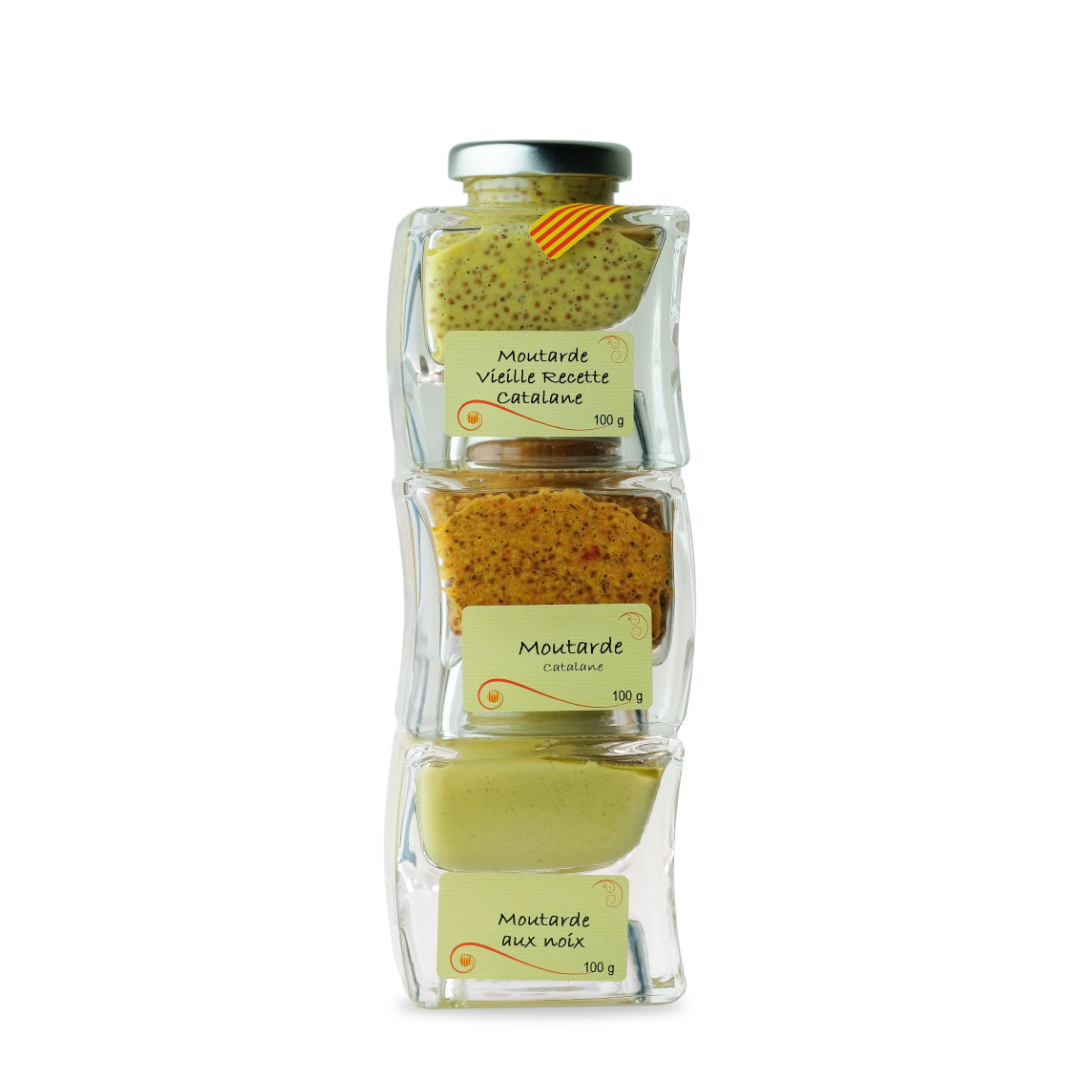 trio de moutarde moutarde vieille recette catalane moutarde catalane moutarde aux noix