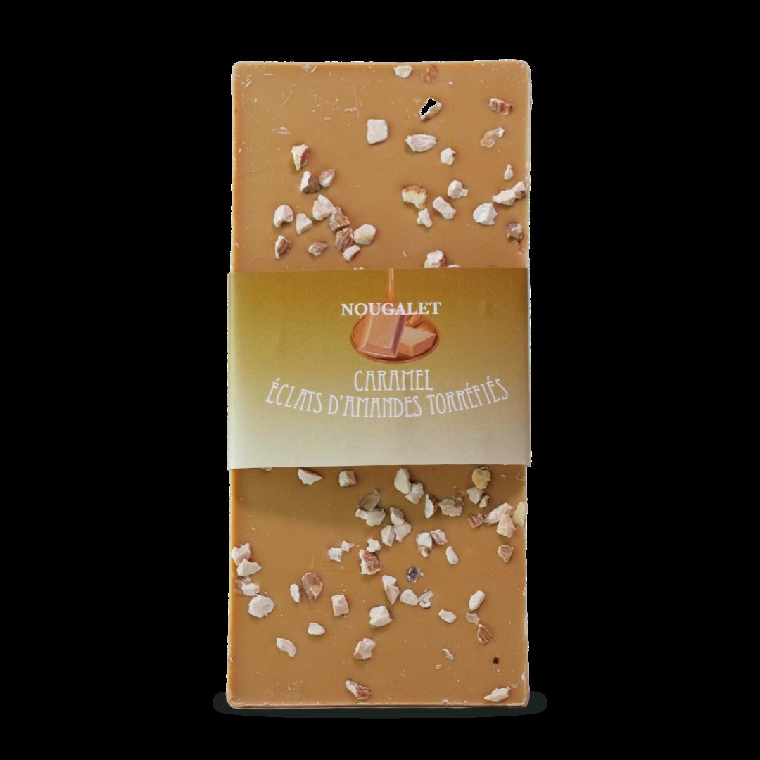 tablette caramel éclats d'amandes nougalet